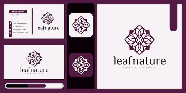 Концепция роскошных листьев абстрактный зеленый символ листа для компании в стиле природы, йоги, красоты с естественной концепцией