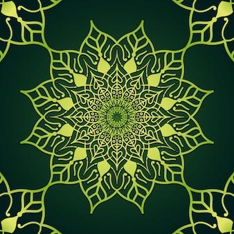 Luxury leaf mandala