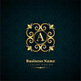 Современный золотой цветочный фон логотипа
