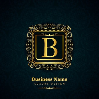 Luxury letter b logo