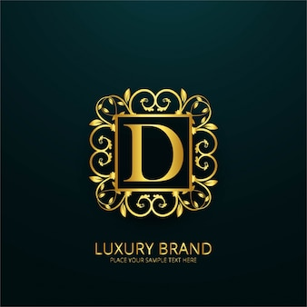 Luxury letter d logo