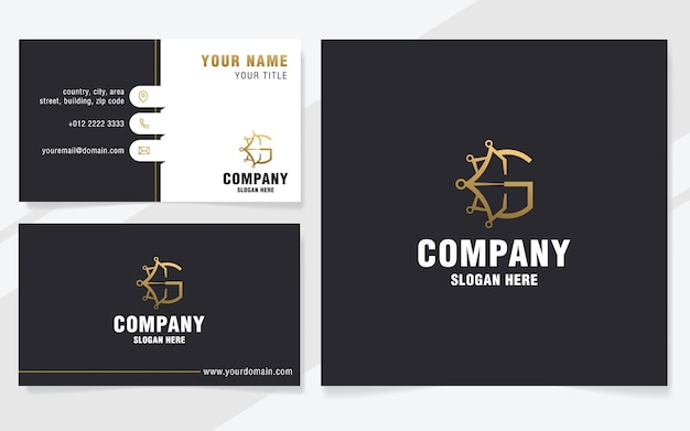 Luxury letter g with abstract crown logo template