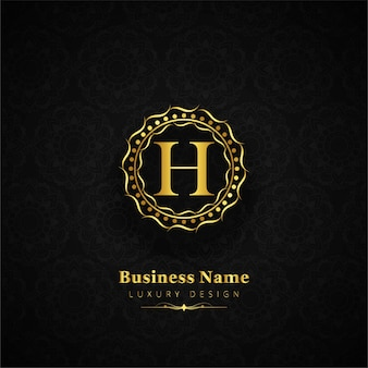 Luxury letter h logo