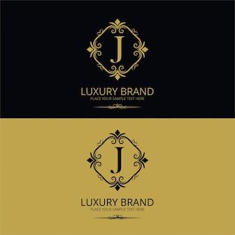 Luxury letter j logo