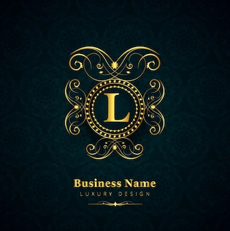 Luxury letter l logo