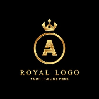 Luxury letter a logo. royal logo.