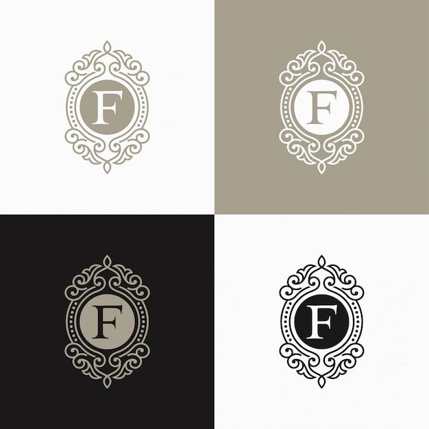 Luxury letter logo. simple and elegant floral design logo, elegant linear luxury vector logo design