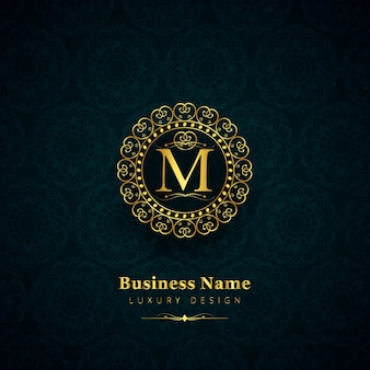 Luxury letter m logo
