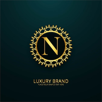 Luxury letter n logo