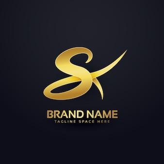 Luxury letter s logo design