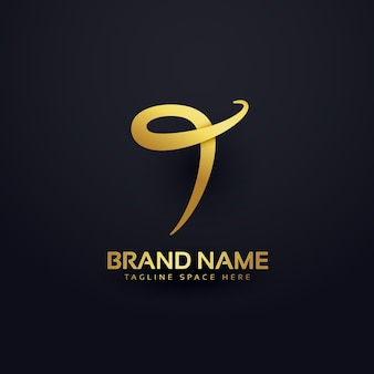 Luxury letter t logo design