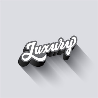 Luxury lettering calligraphic vintage composizione