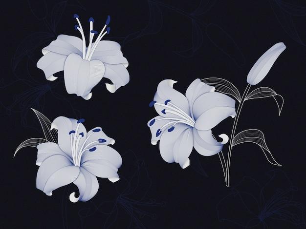 Роскошные цветы лилии