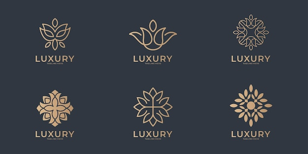 Luxury line art beauty logo  collection