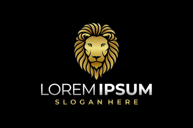 豪華なライオンのロゴ