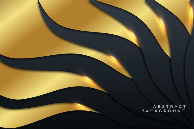 Luxury liquid gold abstract background