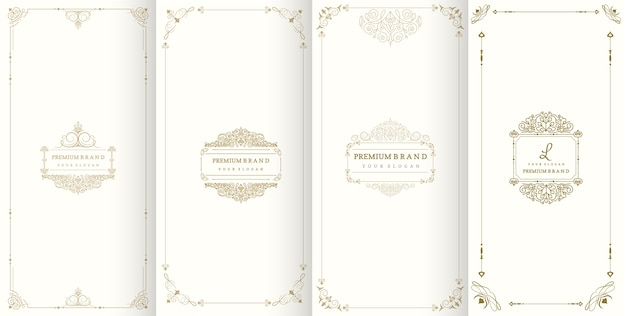 Luxury logo and border packaging design
