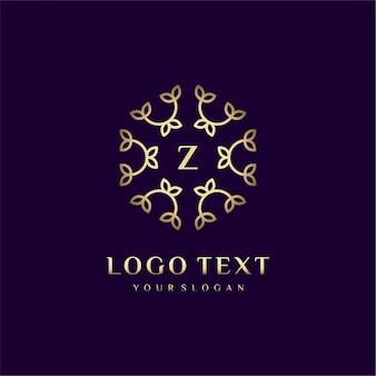 Luxury logo concept design letter (z) for your brand with floral decoration