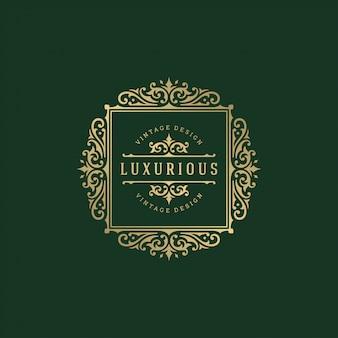 Luxury logo crest template illustration.