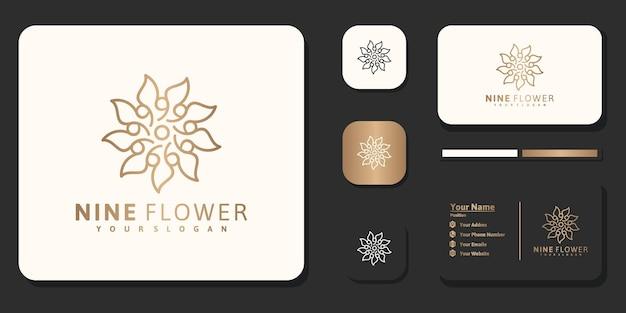 Luxury logo design flower for branding reference