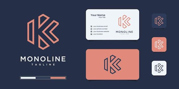 文字kの豪華なロゴデザイン。ロゴはあなたのブランドアイデンティティに使用されます。