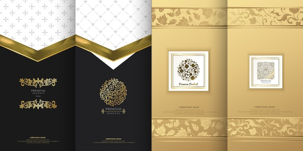 Роскошный дизайн логотипа для упаковки