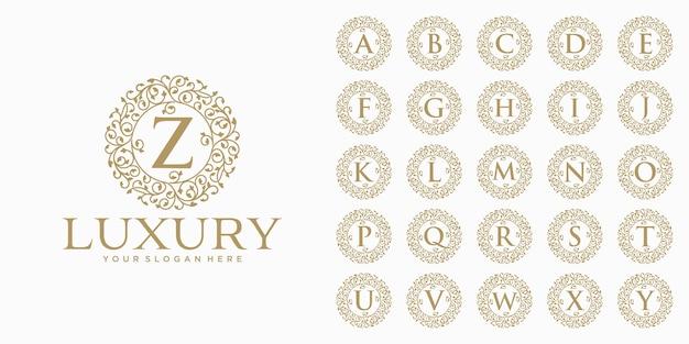 高級ロゴデザイン、初期文字セットテンプレート