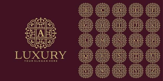 Роскошный дизайн логотипа, шаблон набора начальной буквы