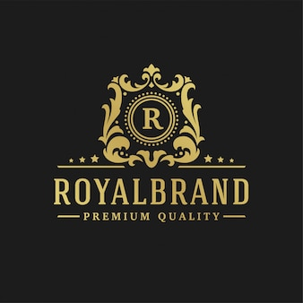 Luxury logo design letter r