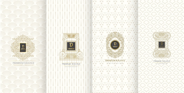Luxury logo design and luxury background for packaging
