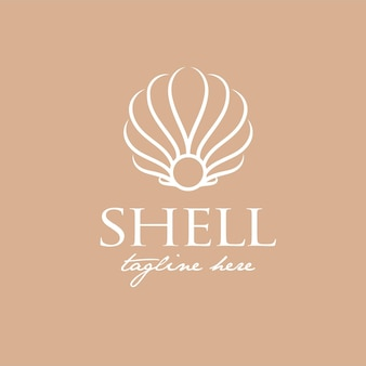 Luxury logo design for shell, suitable for beauty, salon, jewelry and fashion logo