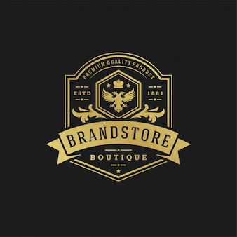 Luxury logo design template vector illustration.