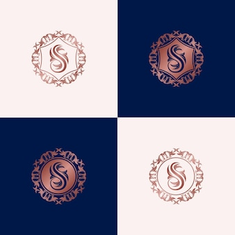 Luxury logo design template