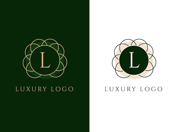 Luxury logo design with letter l