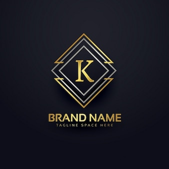 Luxury logo for letter k