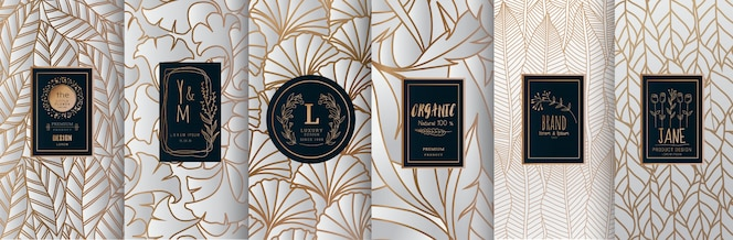 Luxury logo gold packaging design