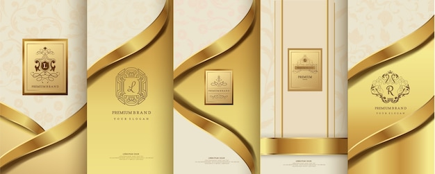 Luxury logo and gold packaging design