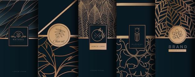 Luxury logo gold packaging