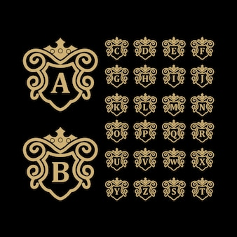 Luxury logo  gold
