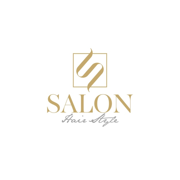 Luxury logo for hair salon with initial s like hair premium logo vector