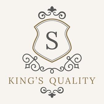 Luxury logo template flourishes calligraphic