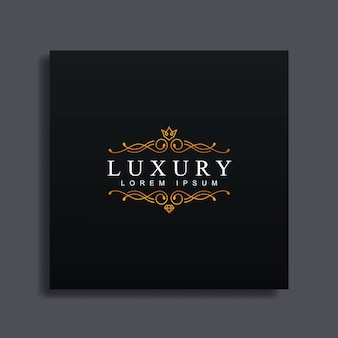 Luxury logo template, luxury flourish style, for wedding,