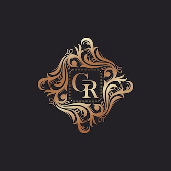 Luxury logo template vector illustration