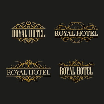 Luxury logo templates flourishes calligraphic elegant ornament frames, bussiness sign.