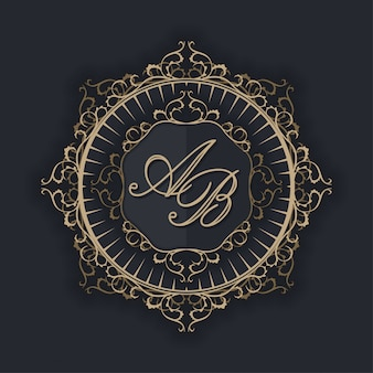 Luxury logo for wedding