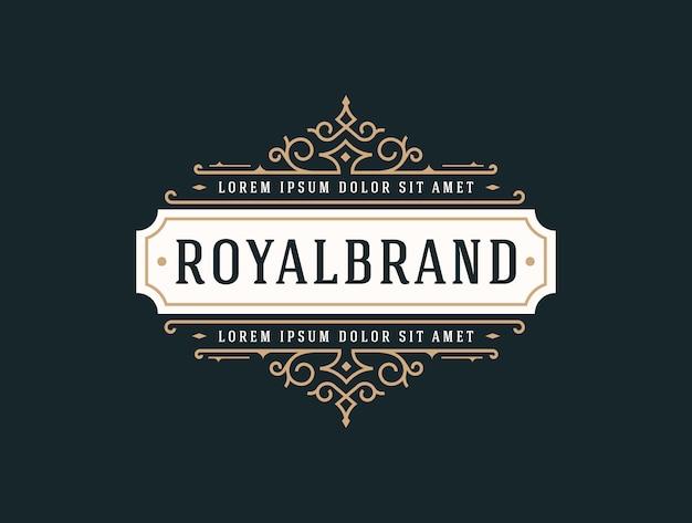Элегантный шаблон luxury logo