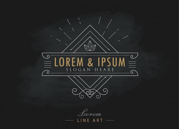 Luxury logos elegant flourishes calligraphy hipster style