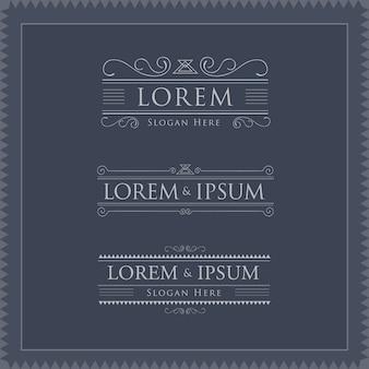Luxury logos template flourishes calligraphy elegant