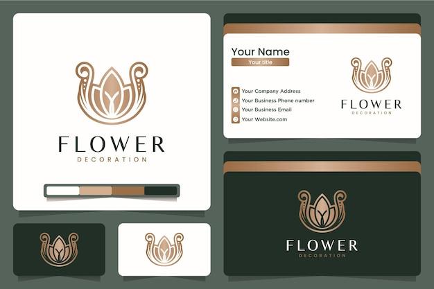 Роскошный лотос, вдохновение для дизайна логотипа
