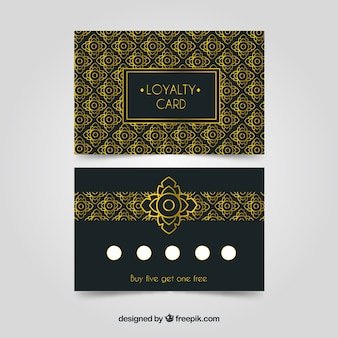 Luxury loyalty card template